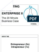 Innovating in the Enterprise- The 20 Minute Business Case