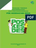 Petunjuk Teknis Pengembangan Poskesdes