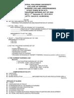 Study Guide in Ra 9173 Ra 9173 School Year 2011-2012