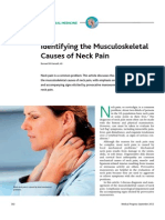Identifying the Musculoskeletal Causes of Neck Pain
