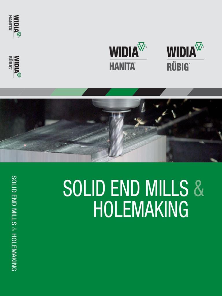 6 mm Shank Diameter Carbide TiAlN Coating Right Hand Cut Straight Shank WIDIA Hanita 460306002RT 4603 HP Finishing End Mill 3-Flute 6 mm Cutting Diameter