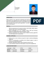 Resume of Md. Samrat-Uz-Zaman