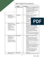 FIRST AID Cadet Procedures (1)