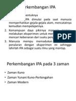 Perkembangan IPA