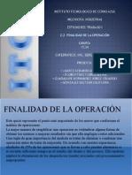 ESTUDIO DEL TRABAJO EXPOSICIÓN  2.2 FINALIDAD DE LA OPERACION.ppt