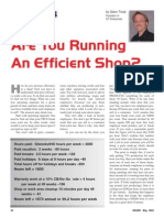 Are You Running an Efficient Shop