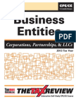 business entities taxation