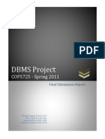 Final Report DBMS project