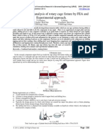 IJIRAE::Combined load analysis of rotary cage fixture by FEA and Experimental approach