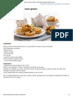 Muffins aux raisins sans gluten _ recette illustrée, simple et facileRecette Gateau