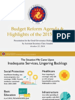 Highlights of the 2015 NEP and the Visayas Budget by Asec. Clare Amador, DBM