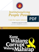 Institutionalizing People Power by Sec. Florencio Abad, DBM