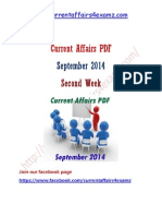 Sep 2014 Current Affairs 2nd Week-22