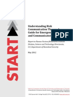 Risk Communication Models and Theories