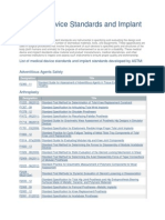 Medical Device Standards and Implant Standards