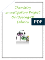Chemistry Investigatory Project on Dyeing of Fabrics for Class 12