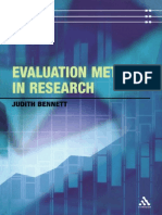 Evaluation Methods in Research