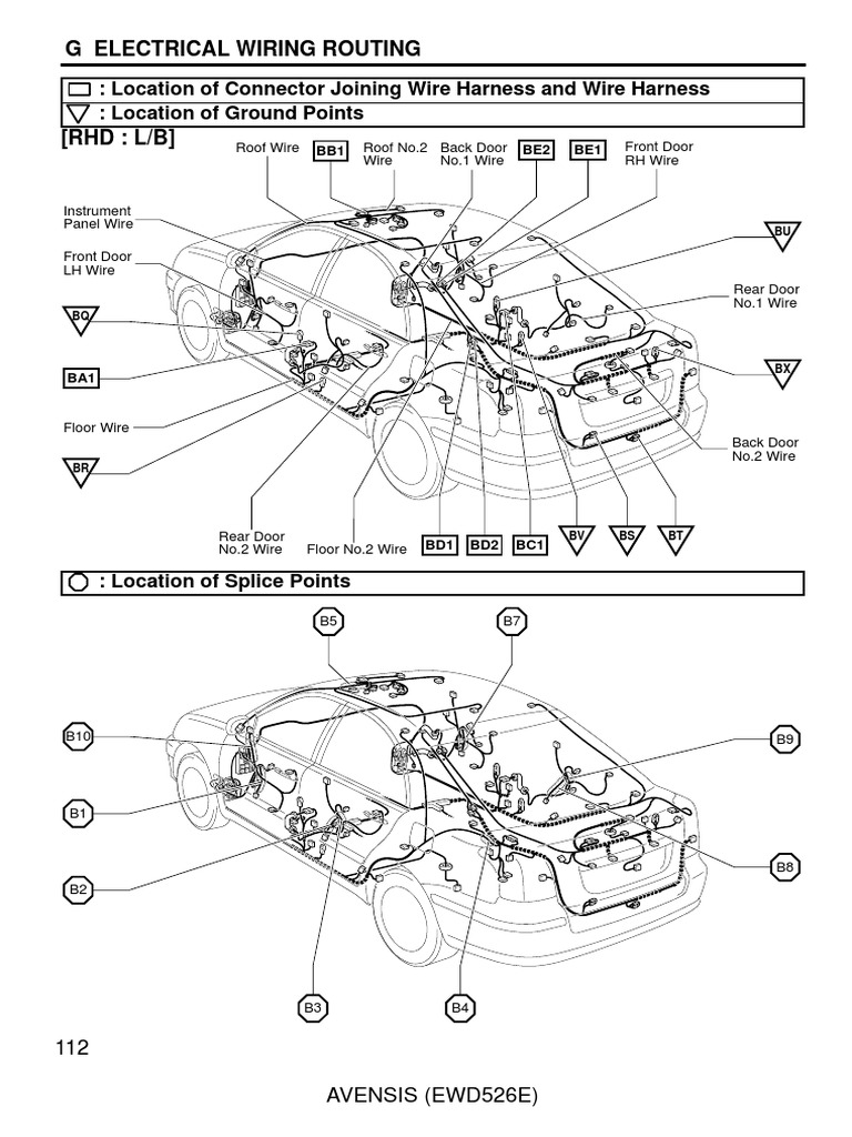 toyota avensis 2003 2007 electrical wiring routing headl anti Wiring Harness Kit toyota avensis 2003 2007 electrical wiring routing headl anti lock braking system