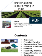 Operationalizing Precision Farming in India