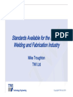 Standards for Welding and Fabrication TWI