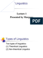 The Nature of Linguistics