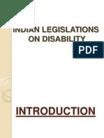 New Microsoft PowerPoint Presentation ON LEGISLATIONS ON DISABILITY