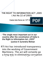 The Right to Information Act ,2005