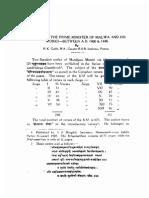 Mandana, The Prime Minister of Malwa and His Work - PK Gode 1946 (Jain Antiquary)