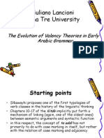 The Evolution of Valency Theories in Early Arabic Grammar by Giuliano Lancioni