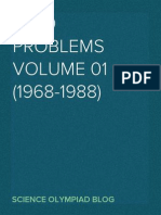International Chemistry Olympiad Problems Volume 01 (1968-1988)
