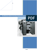 The Differences Between Grounding and Distribution Transformers