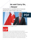 Keep Calm and Carry on, Stephen Harper