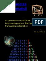 Frumusetea matematicii