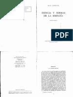 SCHELER, Max - Esencia y formas de la simpatia - 3ed Losada 1957.pdf