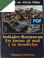 Voltaire- Rousseau - En torno al mal y la desdicha. Alianza Ed. 1995.pdf