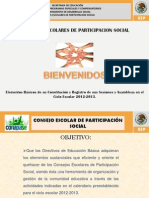 CONSEJO ESCOLAR  DE PARTICIPACION SOCIAL.ppt