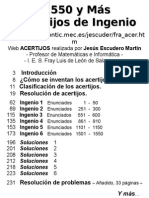 Escudero Martin, Jesus & MEC (2000). 1550 y Mas Acertijos de Ingenio Escogidos