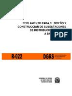 R-022 REGLAMENTO PARA EL DISENO Y CONSTRUCCION DE SUBESTACION.pdf