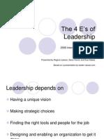 The 4 E's of Leadership