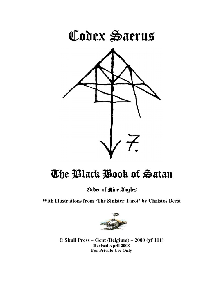 Codex saerus the black book of satanpdf altar magic paranormal buycottarizona Image collections