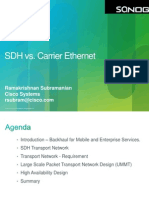 SANOG23 SDH vs Carrier Ethernet Cisco RS