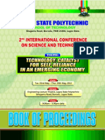 LAGOS STATE POLYTECHNIC,SCHOOL OF TECHNONOLOGY BOOK OF PROCEEDINGS-2012