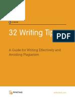 32 Writing Tips - By WriteCheck