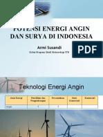 data Potensi Energi Angin Dan Surya Di Indonesia