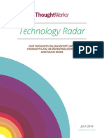Thoughtworks Tech Radar Jul 2014
