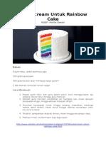 Buttercream Untuk Rainbow Cake