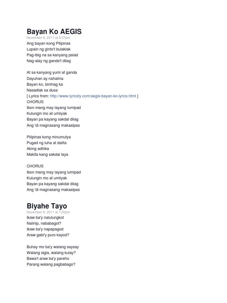 Nasaan Ang Hookup Tayo Lyrics A-z
