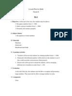 Lesson Plan - Math (Grade 2)