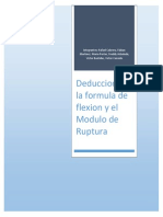 Deduccion de la Formula de Flexion