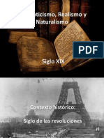 Romanticismo, Realismo y Naturalismo.pptx